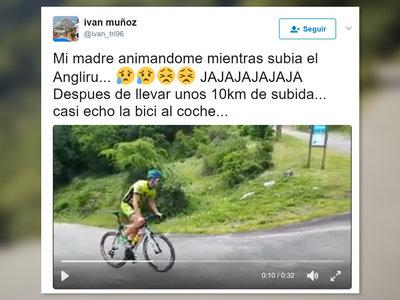 La historia del triatleta que subió el Angliru acordándose literalmente de la madre que lo parió