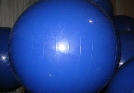 Abdominales con pelota suiza