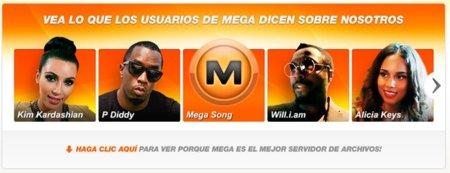 Megaupload rediseña su servicio con el apoyo de varios artistas importantes y las discográficas se enfadan