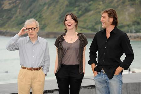 Woody Allen con Rebecca Hall y Javier Bardem en San Sebastian