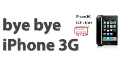 Apple deja de distribuir el iPhone 3G de 8Gb en la mayor parte de mercados