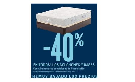 40% en colchones y bases en Hipercor