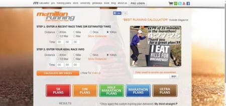Calculadora McMillan on-line para predecir tus tiempos de carrera