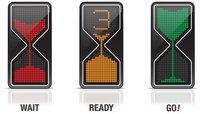 Relojes de arena LED al servicio de los semáforos