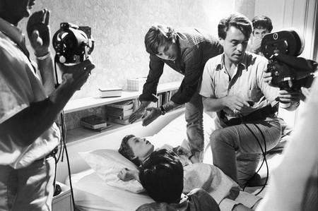 Roman Polanski en el rodaje
