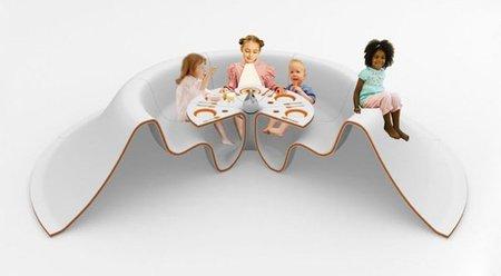 Slide eat, mesa y asientos para comer
