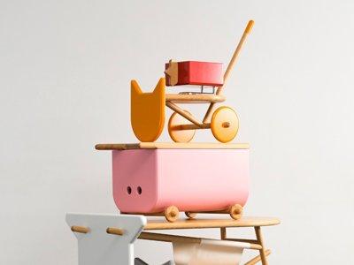 Divertida colección de muebles para niños inspirada en el mundo animal