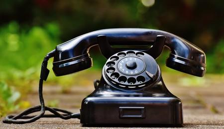 Un viejo teléfono