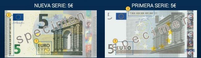 Ya en circulación los nuevos billetes de 5 euros