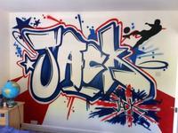 Un regalo decorativo de excepción: graffiti en su habitación