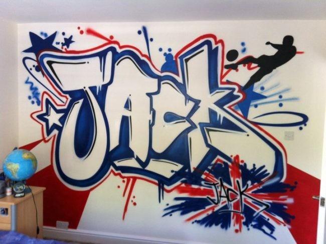 Un regalo decorativo de excepci n graffiti en su habitaci n for Phrases murales