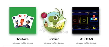 El renovado Google Play Games viene con tres juegos integrados