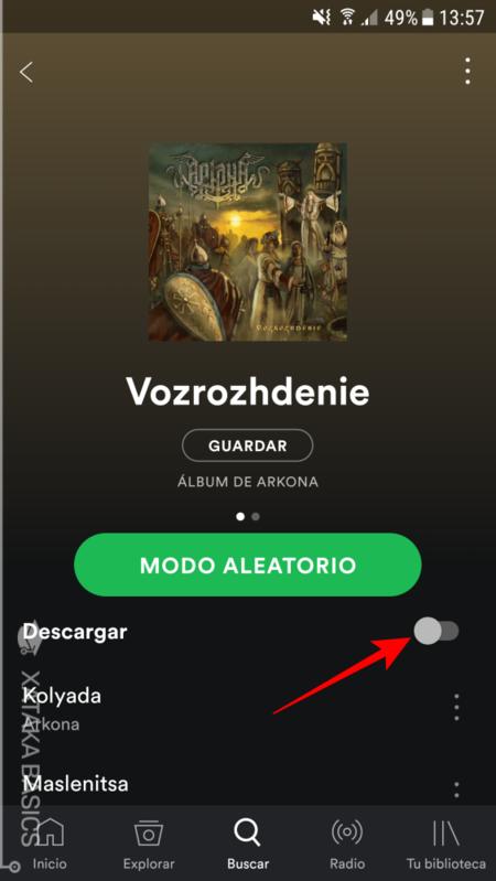 Spotify Descargar Disco