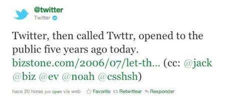 Twitter cumple cinco años con unas cifras espectaculares