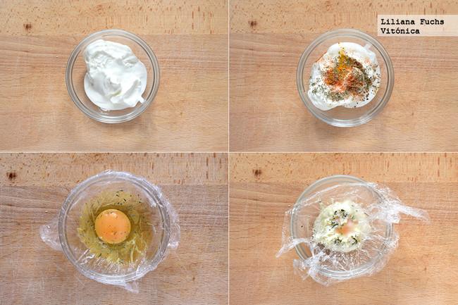 Huevos Turcos. Pasos