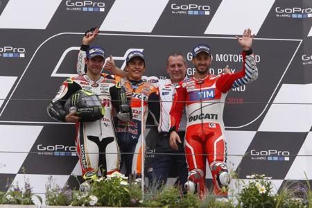 Marc Marquez Cal Crutchlow Andrea Dovizioso Motogp Alemania 2016