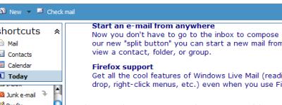 Windows Live Mail ya en Firefox
