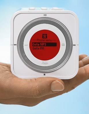Cordless Cube, teléfono inalámbrico con reproductor de MP3
