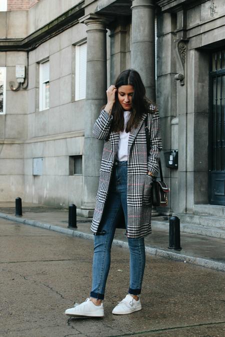 Abrigo Pata De Gallo Outfit Blog De Moda Leon 2
