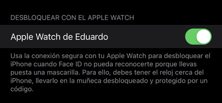 Activar Desbloqueo Apple Watch