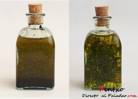 Aceite de tinta y aceite de menta