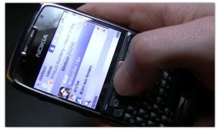 Nimbuzz en Symbian S60 con cliente Twitter