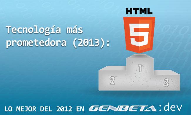 HTML5 - tecnología más prometedora para 2013