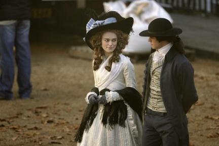 Keira Knightley de época en el rodaje de 'The Duchess'