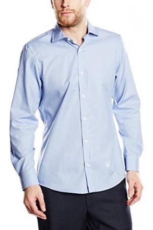Hombre Camisas El Ganso 1050w150042 Camisa Slimfit Cuello Sin Boton Para Hombre