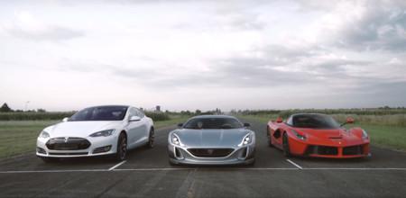 Duelo a muerte por aceleración entre híbrido y eléctrico: Ferrari LaFerrari contra Rimac Concept_One, en vídeo