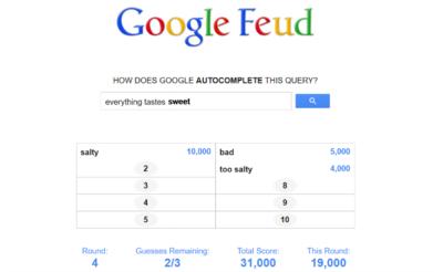 Google Feud, convirtiendo el autocompletado de Google en un juego Family Feud