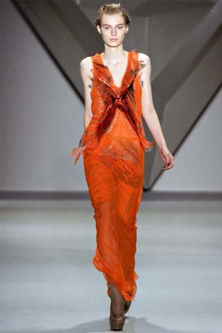 Vera Wang naranja