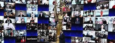 """Los mejores momentos (y memes) de la gala virtual de los Premios Emmy 2020: del """"fuego"""" de Jennifer Aniston al éxito de Schitt's Creek"""