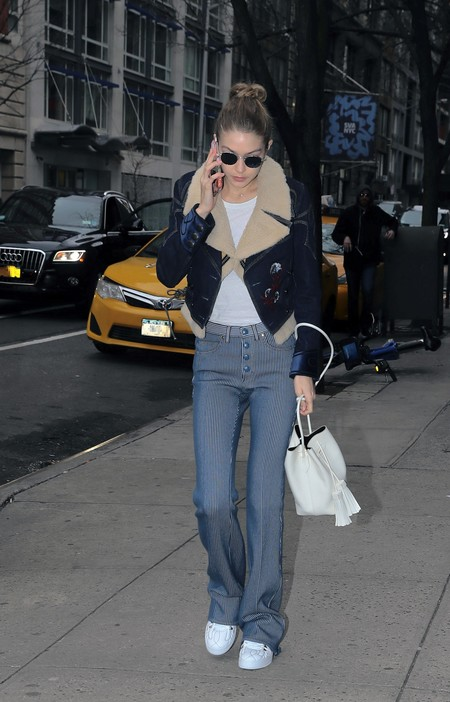 Gigi Hadid Fay Denim Short Jacket