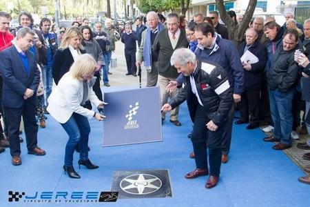 Giacomo Agostini ya tiene su hueco en el Paseo de la Fama de Jerez