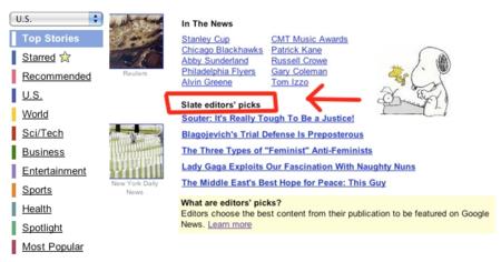Google prueba la intervención humana en los resultados de sus noticias