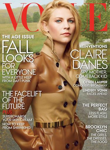 Claire Danes, el poder de 'Homeland' conquista la portada de Vogue