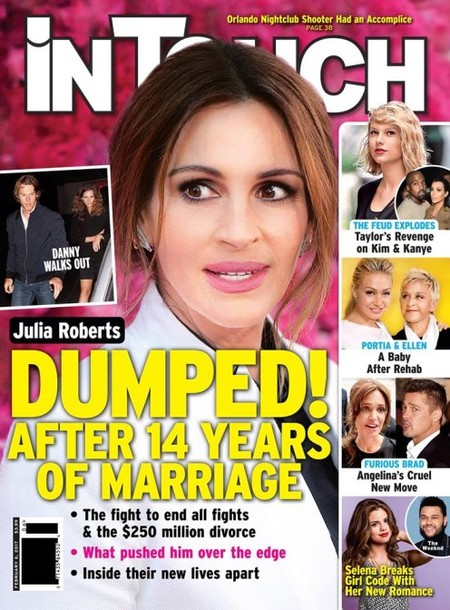 Divorcio millonario para Julia Roberts