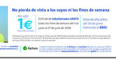 Promoción de videollamadas los fines de semana, en Movistar