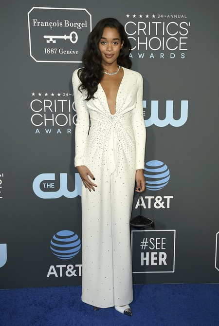 laura harrier red carpet