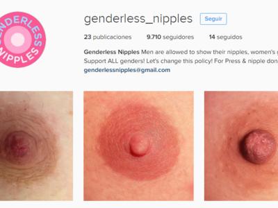 Este perfil de Instagram lucha por la igualdad de los pezones