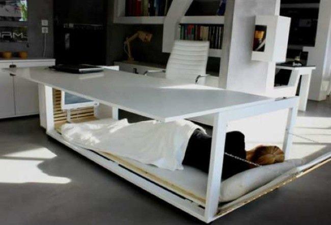 Buena o mala idea la cama debajo del escritorio - Camas con escritorio debajo ...