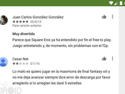 Cómo valorar o reportar los comentarios de Google Play Store