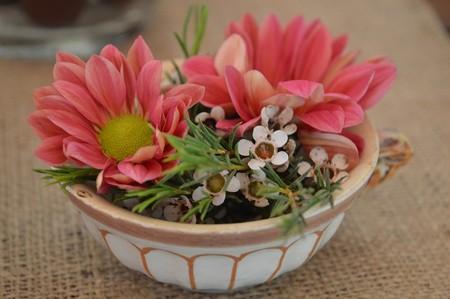 Flores en porcelana