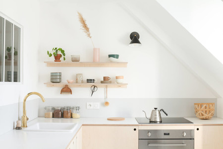 Heju Apartment Paris Diy Minimalist Kitchen With Laminate Counter 2 1466x978