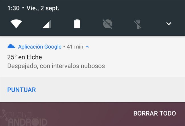 Google Now Puntuar