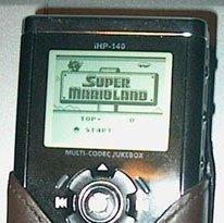 Gameboy en el reproductor de música portátil