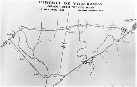 Mapa Del Circuito Vilafranca 1921