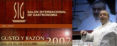Santi Santamaría en el SIG, VI Salón Internacional de Gastronomía