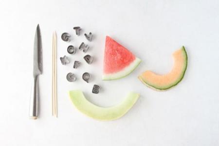 fruta para leer y comer